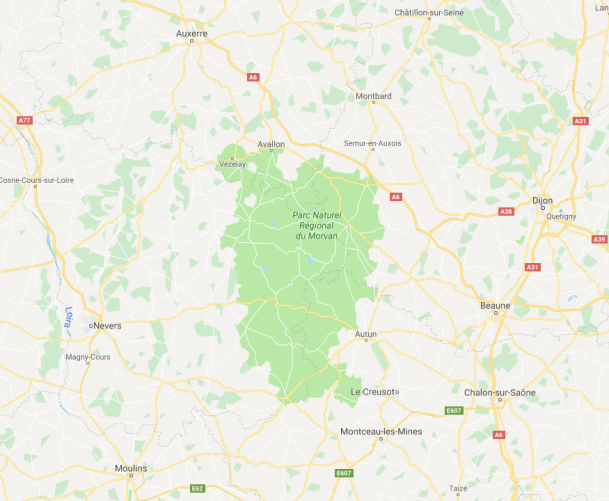 mapa Burgundsko